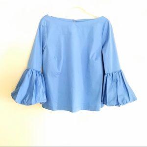 Laundry Powder Blue Ruffle Sleeved Top